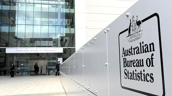 Australian Bureau of Statistics offices and logo in Canberra, Tuesday, Aug. 25, 2009 (AAP Image/Alan Porritt) NO ARCHIVING